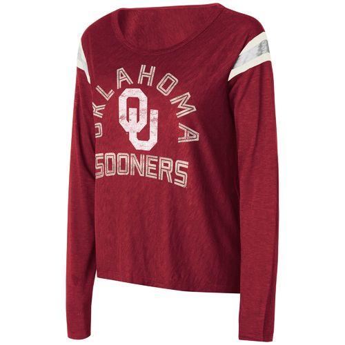 Touch by Alyssa Milano Women's University of Oklahoma Cascade Long Sleeve T-shirt