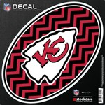 Stockdale Kansas City Chiefs Chevron Oval Decal