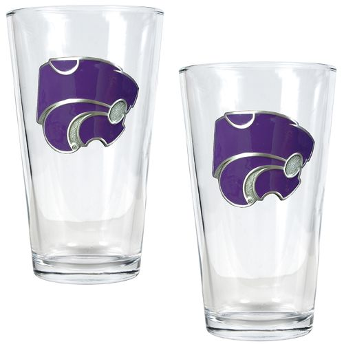 Great American Products Kansas State University 16 oz. Pint Glasses 2-Pack
