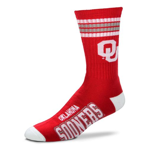 For Bare Feet Adults' University of Oklahoma 4-Stripe Deuce Socks
