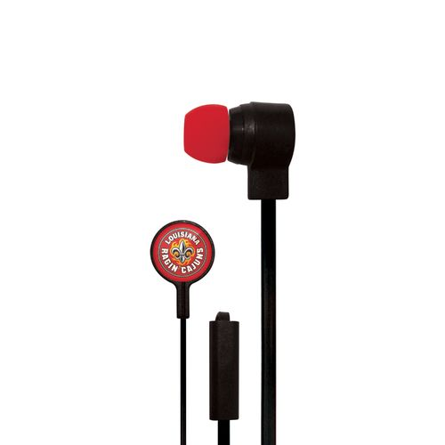 Mizco University of Louisiana at Lafayette Big Logo Earbuds