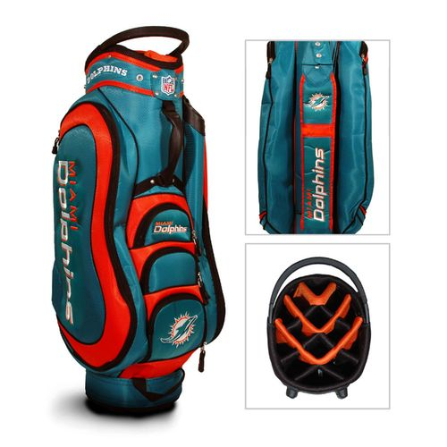 Team Golf Miami Dolphins Medalist 14-Way Golf Cart Bag