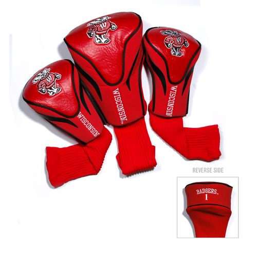 Team Golf University of Wisconsin Contour Sock Head Covers 3-Pack