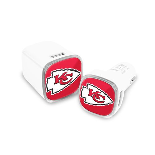 Mizco Kansas City Chiefs USB Chargers 2-Pack