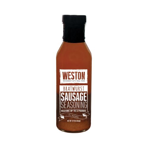 Weston Bratwurst 12 oz. Liquid Sausage Seasoning