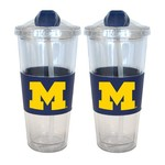 Boelter Brands University of Michigan 22 oz. No-Spill Straw Tumblers 2-Pack - view number 1