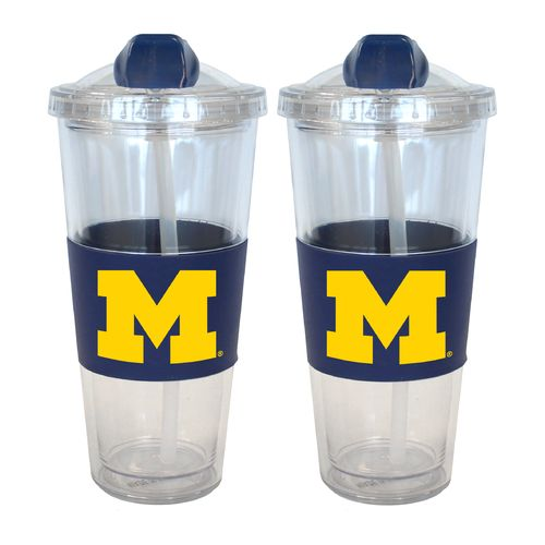 Boelter Brands University of Michigan 22 oz. No-Spill Straw Tumblers 2-Pack