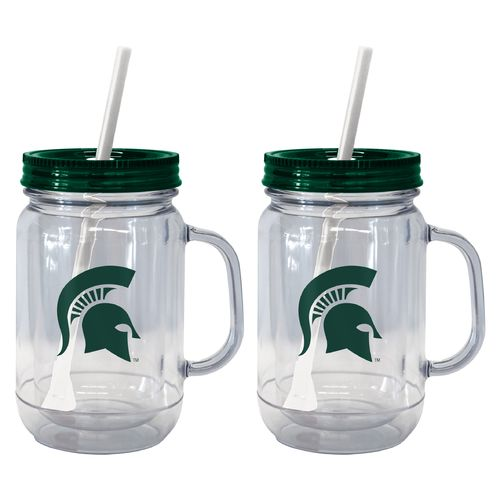 Boelter Brands Michigan State University 20 oz. Handled Straw Tumblers 2-Pack