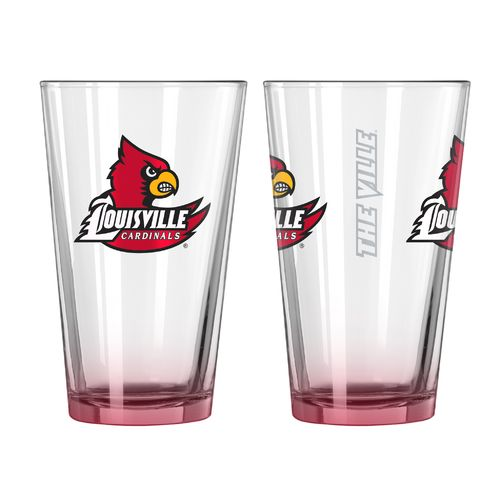 Boelter Brands University of Louisville Elite 16 oz. Pint Glasses 2-Pack