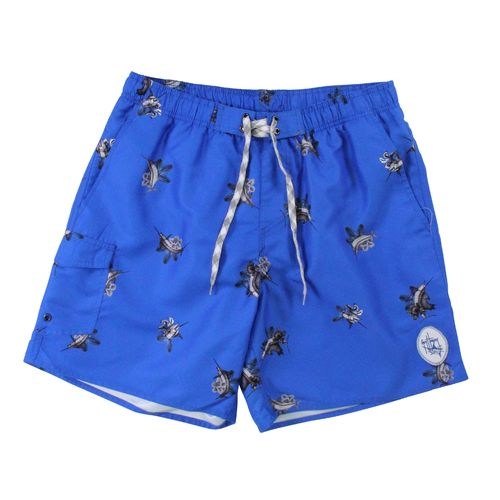 Guy Harvey Men's Makaira Print Volley Swim Short