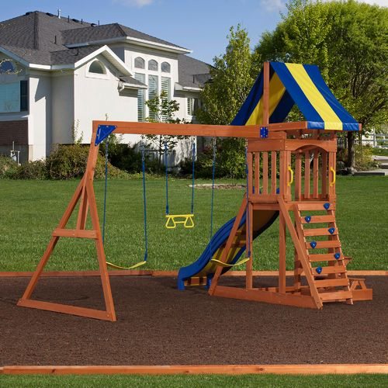 Backyard Discovery™ Providence Wooden Swing Set | Academy
