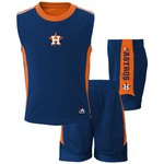 Majestic Toddlers' Houston Astros Slide Home Short and Shirt Set