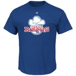 Majestic Men's Texas Rangers Cooperstown Official Logo T-shirt