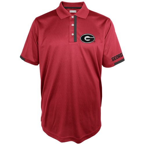 Majestic Men's University of Georgia Section 101 Colorblock Synthetic Polo Shirt