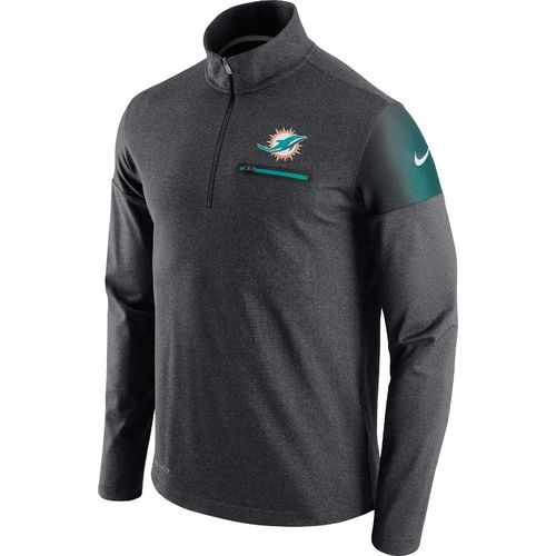 Nike Men's Miami Dolphins Elite Coaches 1/2 Zip Top