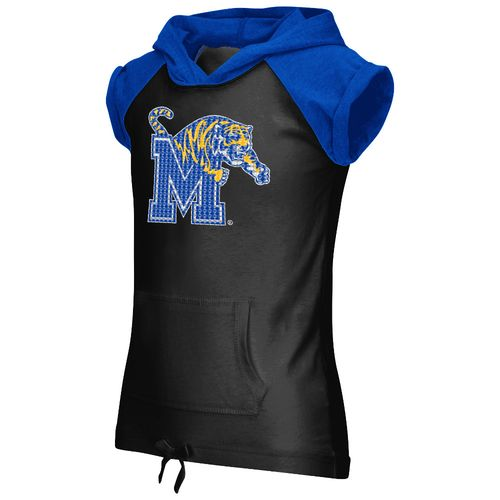 Colosseum Athletics Girls' University of Memphis Jewel Short Sleeve Hoodie