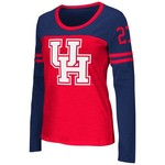Colosseum Athletics™ Women's University of Houston Hornet Football Long Sleeve T-shirt