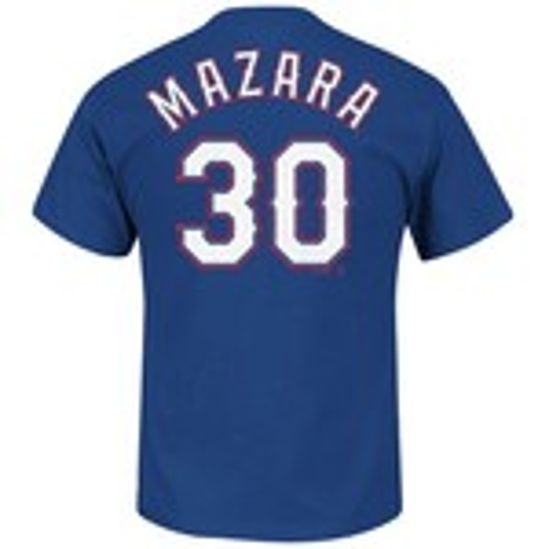 Majestic Men's Texas Rangers Nomar Mazara #30 T-shirt