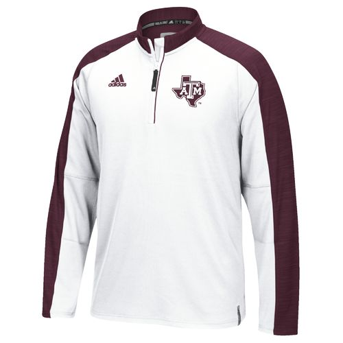 adidas™ Men's Texas A&M University Sideline 1/4 Zip