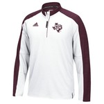 adidas™ Men's Texas A&M University Sideline 1/4 Zip Pullover
