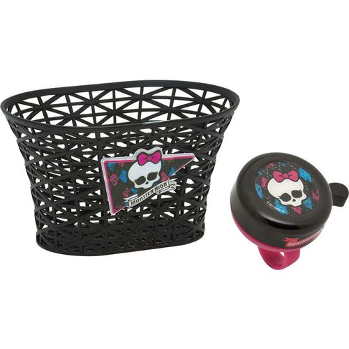 Bell Girls' Monster High Freaky Chic Bicycle Basket and Bell