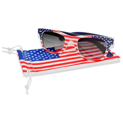 Foster Grant Men's Fashion-Surge Stars and Stripes Wayfarer Sunglasses