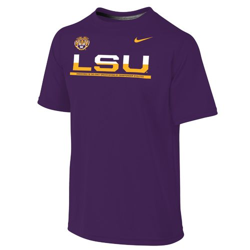 Nike Boys' Louisiana State University Dri-FIT Legend Logo T-shirt
