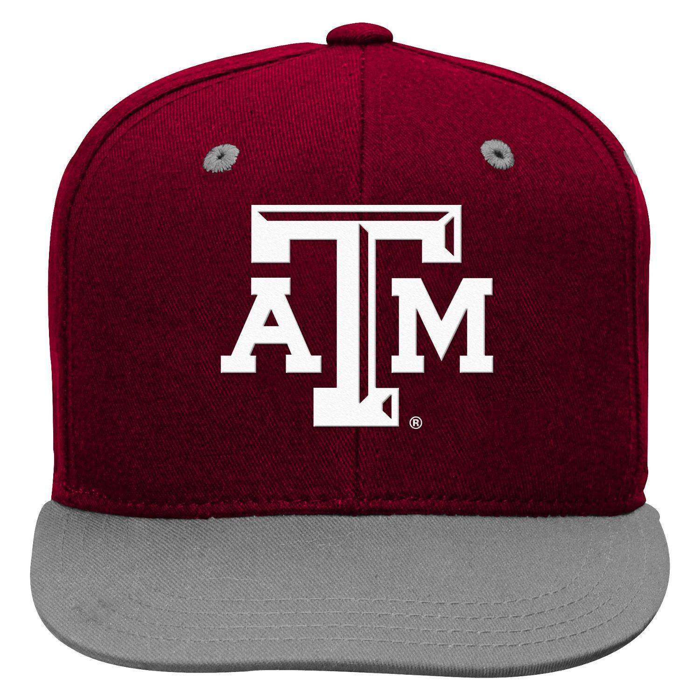 adidas™ Boys' Texas A&M University Flat Brim Snapback