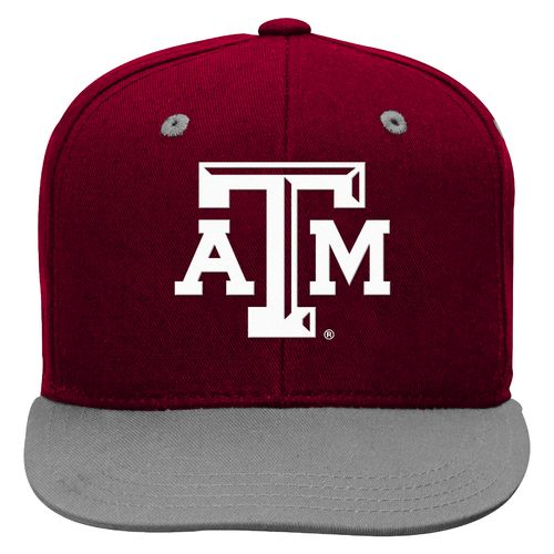 adidas™ Boys' Texas A&M University Flat Brim Snapback Cap