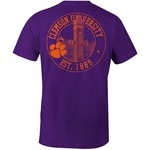 Image One Men's Clemson University Campus Building Comfort Color T-shirt