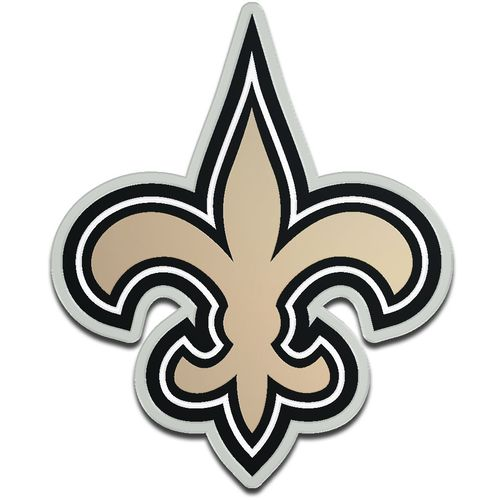 Stockdale New Orleans Saints Acrylic Metallic Freeform Auto Emblem