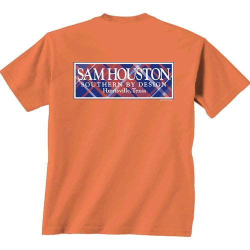 New World Graphics Women's Sam Houston State University Madras T-shirt