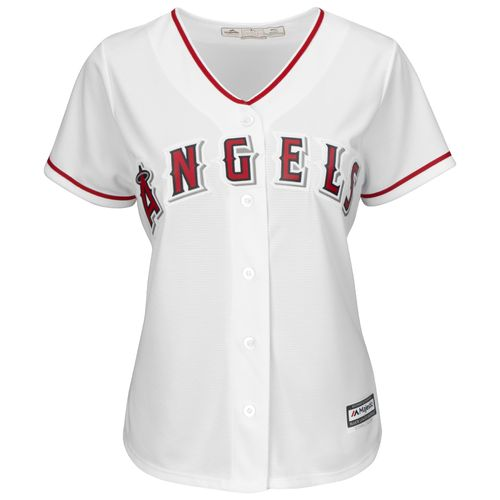 Majestic Women's Los Angeles Angels of Anaheim Kole Calhoun #56 Authentic Cool Base Home Jersey - view number 3