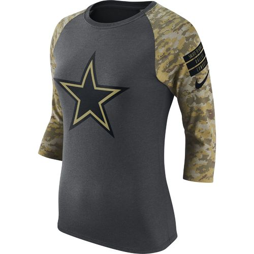 Nike Women's Dallas Cowboys Salute to Service Raglan T-shirt