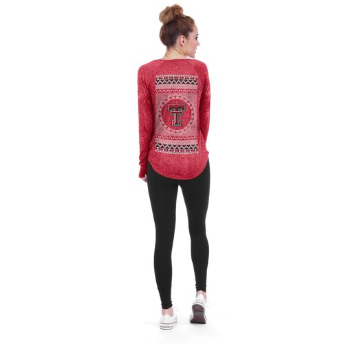 Chicka-d Women's Texas Tech University Favorite V-neck Long Sleeve T-shirt