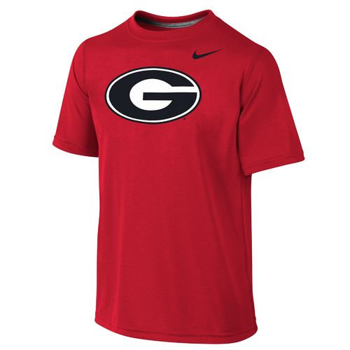 Nike Boys' University of Georgia Dri-FIT Legend Short Sleeve T-shirt
