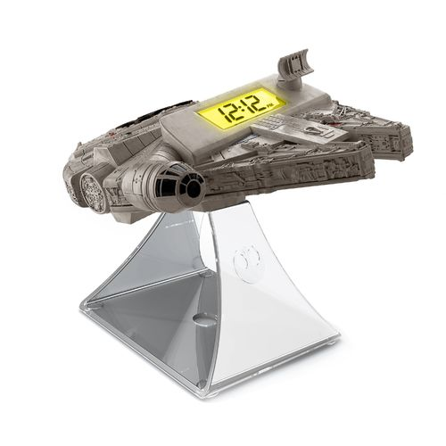 KIDdesigns Millennium Falcon Night Glow Alarm Clock