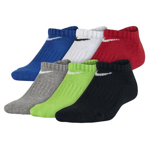 Nike Boys' Banded Cotton No-Show Socks 6-Pair