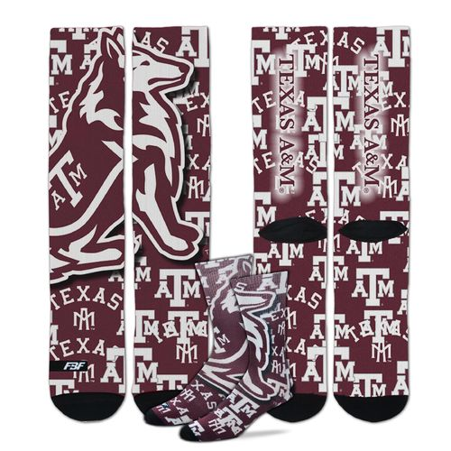 For Bare Feet Men's Texas A&M University Sublimated Socks