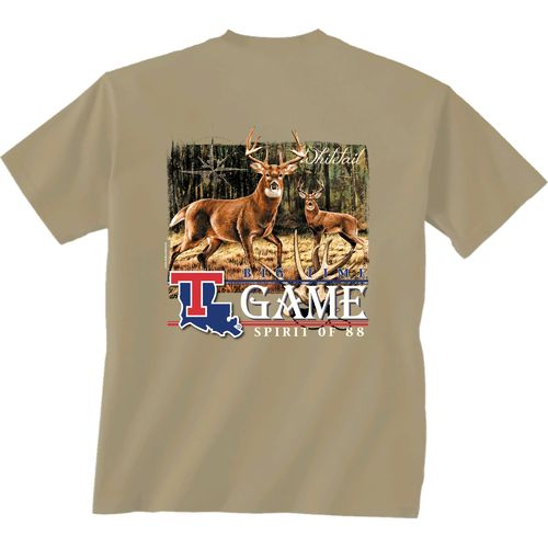 New World Graphics Men's Louisiana Tech University Deer Rattle T-shirt