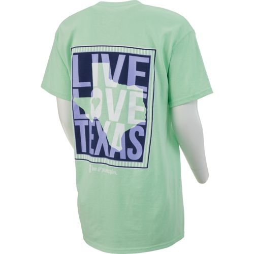 Display product reviews for Love & Pineapples Women's Live Love Texas Short Sleeve T-shirt