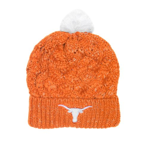 We Are Texas Women's University of Texas Tulip Pom Cuff Beanie