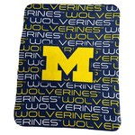 Logo University of Michigan 50 in x 60 in Classic Fleece Blanket - view number 1