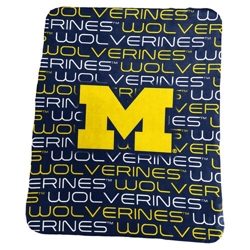 Logo University of Michigan 50 in x 60 in Classic Fleece Blanket