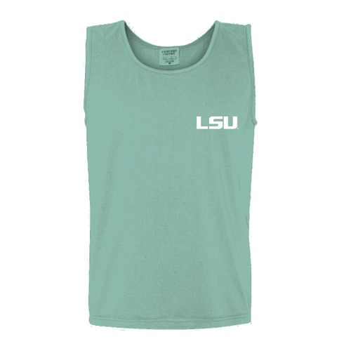 New World Graphics Women's Louisiana State University Circle Flowers Tank Top - view number 2