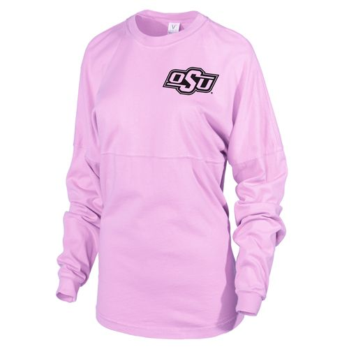 Venley Women's Oklahoma State University Hawaiian Spirit Long Sleeve Football T-shirt - view number 2