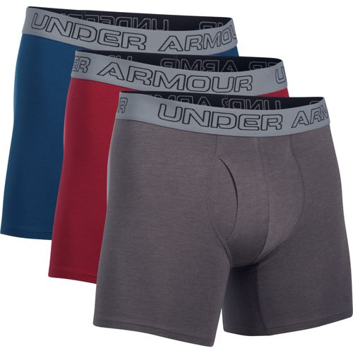 Under Armour Men's Charged Cotton Stretch 6 in Boxerjock Boxer Briefs 3-Pack - view number 1