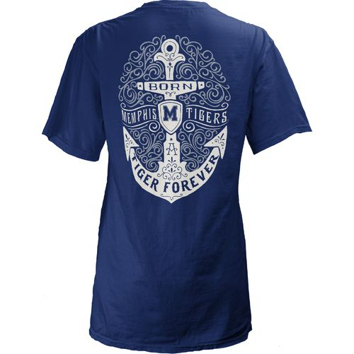 Three Squared Juniors' University of Memphis Anchor Flourish V-neck T-shirt