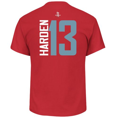 Majestic Boys' Houston Rockets James Harden 13 Vertical Name and Number T-shirt