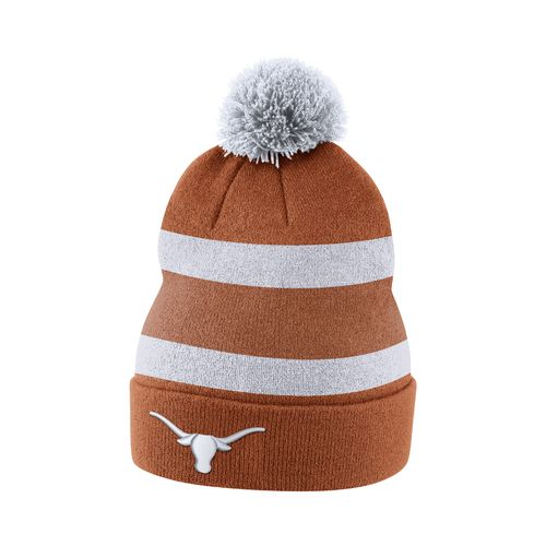 Nike Men's University of Texas Sideline Cuffed Pom Beanie